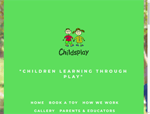 Tablet Preview of childsplay.org.nz